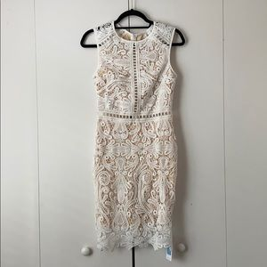 Cupshe white lace dress